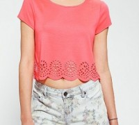 6. Pins and Needles Laser-Cut Cropped Top